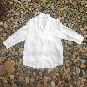 White Button Down Shirt Urban Outfitters Small